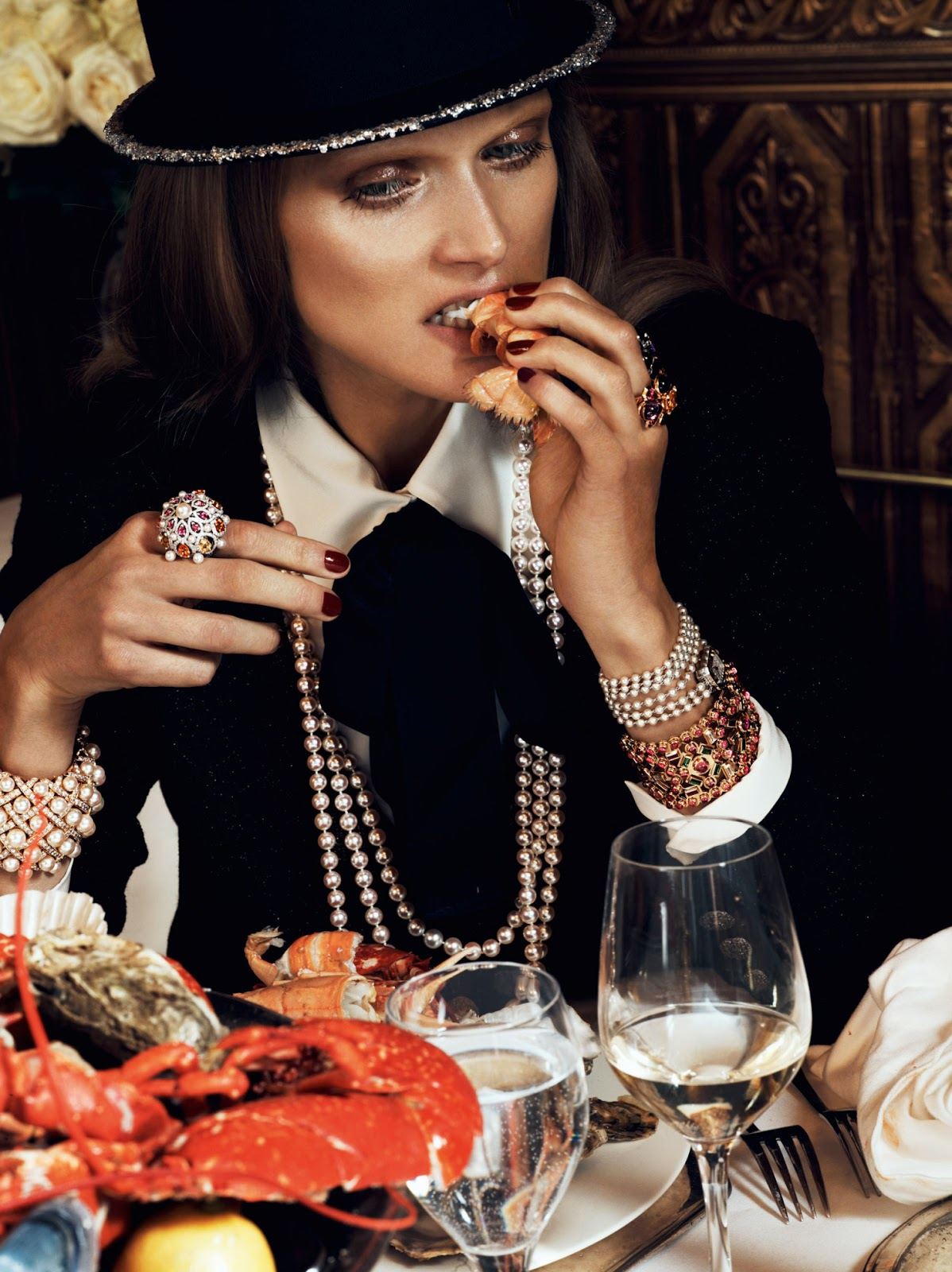 French diet secrets explained / Malgosia Bela in Chic Ultime / Vogue Paris August 2012 (photography: Lachlan Bailey, styling: Geraldine Saglio) via www.fashionedbylove.co.uk