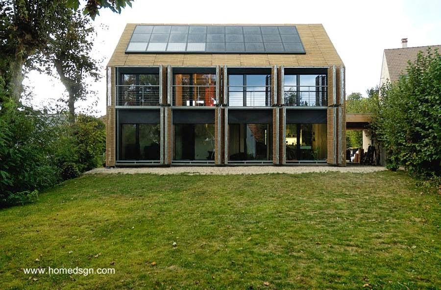 Casa pasiva contemporánea en Francia