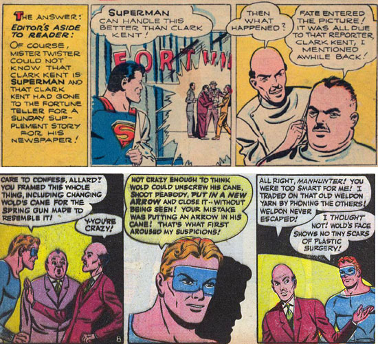 Action 92 Superman and Police 49 Manhunter tiers with identical characters