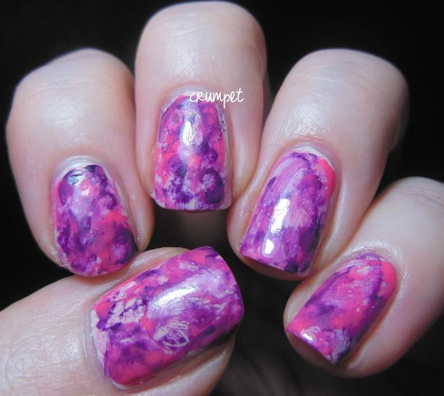 The Crumpet: OPI Nail Art - Watercolour Nails