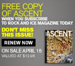 jjobrien on the cover of Rock and Ice magazine on the R&I website