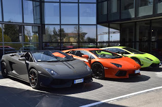 Lamborghini Gallardo Performante black red and green