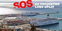 Blokada trajektne luke Split