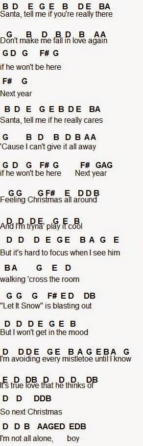 Flute Sheet Music: Santa Tell Me