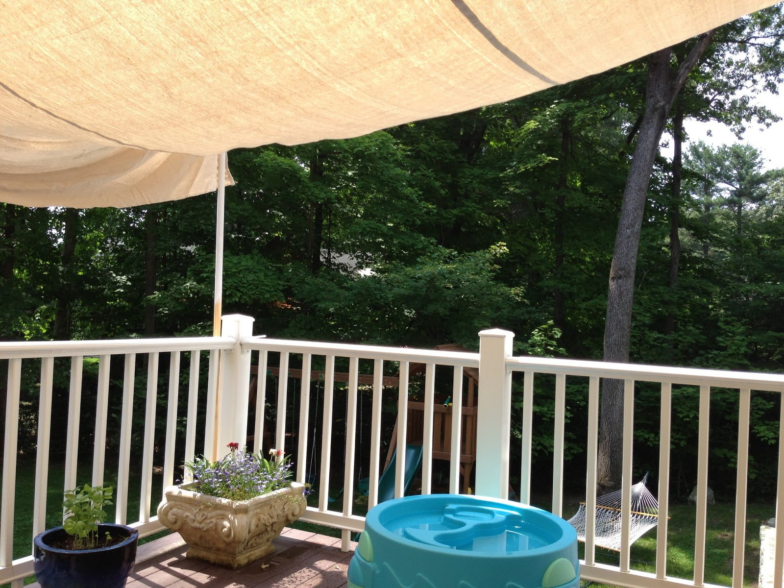Homemade Canopy for the Deck & My New Normal: Homemade Canopy for the Deck