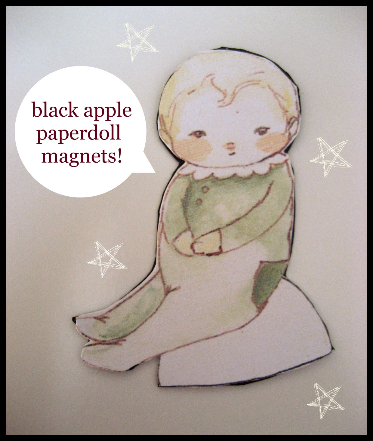 Have been dying to use my black apple paper dolls but i haven t been
