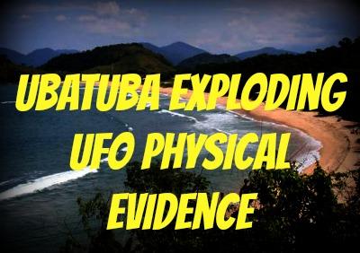 Ubatuba Exploding UFO Physical Evidence  Brazilfragment