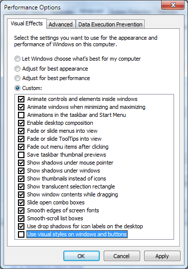 Mengatur Efek Visual pada Windows 7 untuk Kinerja Terbaik