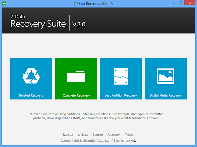 تحميل برنامج 7Data Recovery 2013 مجانا لاستعادة الملفات المحذوفة