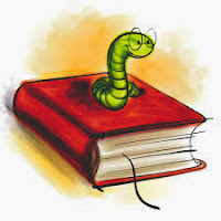 Worm sitting on a book