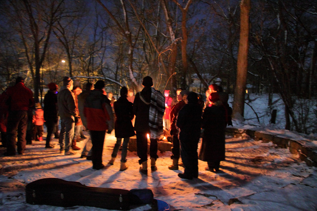 Lighting Our Solstice Candles In Wingra >> Save Our Stream 2011