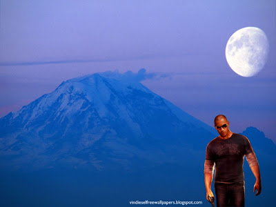 Vin Diesel Desktop Wallpaper Wheelman the movie in Ascent Moon Blue Mountain