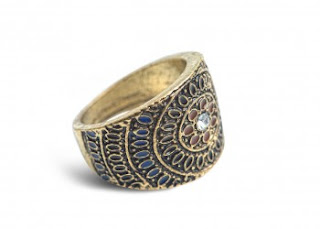 domed ring with mosaic detail