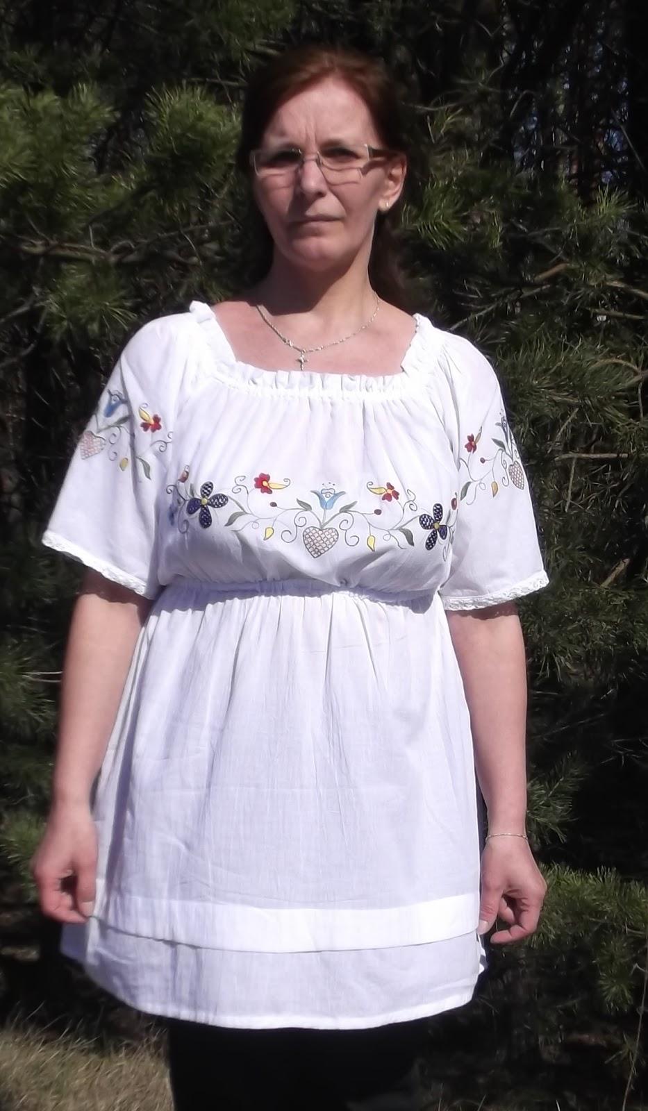 Haftowana chłopka- wyjątkowa bluzeczka na lato!