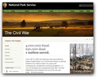 National Park Service Launches Civil War Website at NPS.gov