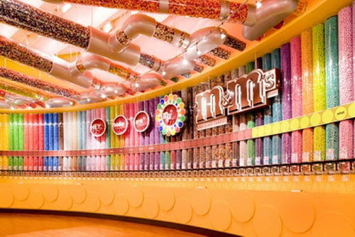 m&m World colorful