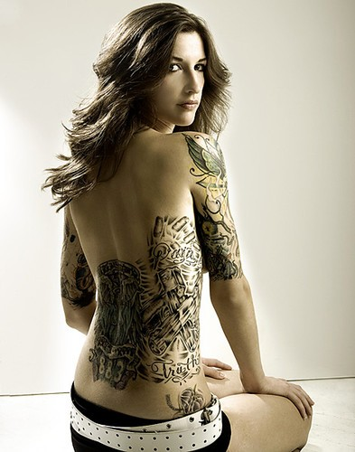 Sexy girls tattoos girl with tattoo for Hot naked women with tattoos