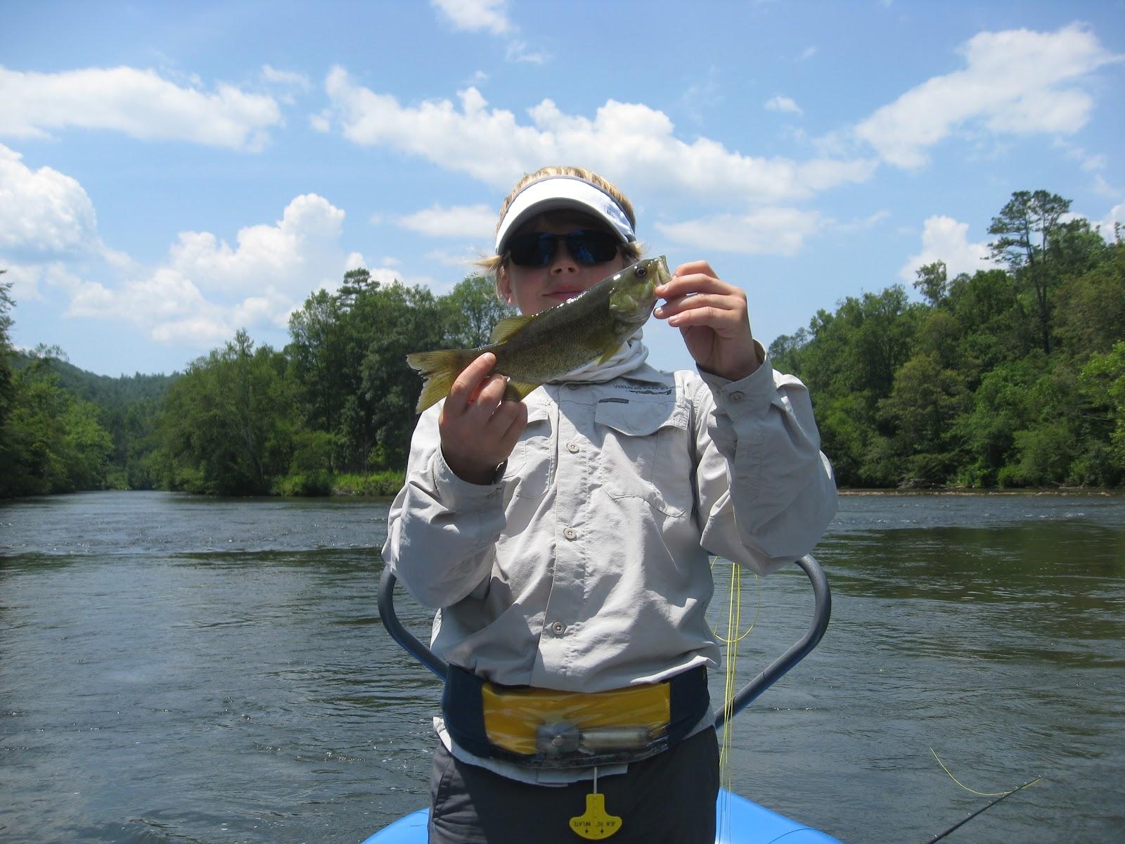 Hiwassee angler north carolina fishing for Freshwater fishing in north carolina