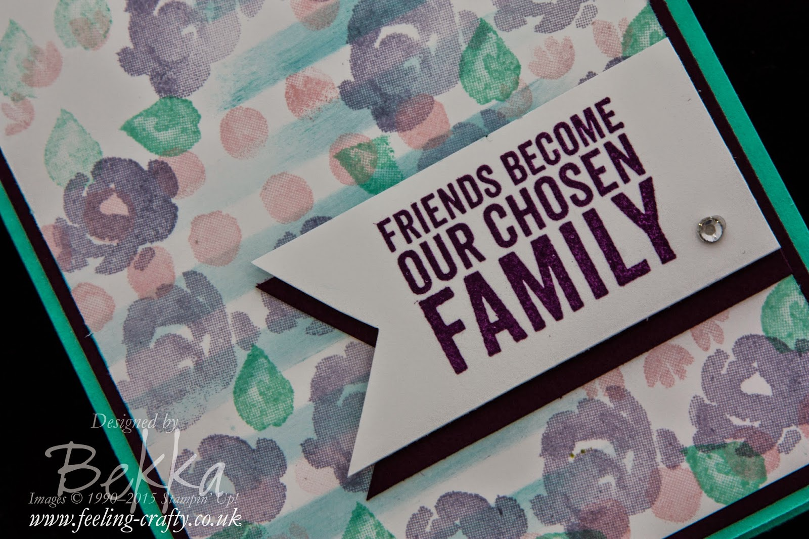 Painted Petals Friendship Card - check out this blog for lots of cute ideas