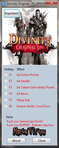 Divinity Original Sin V1.0.93.0 Trainer +8 MrAntiFun