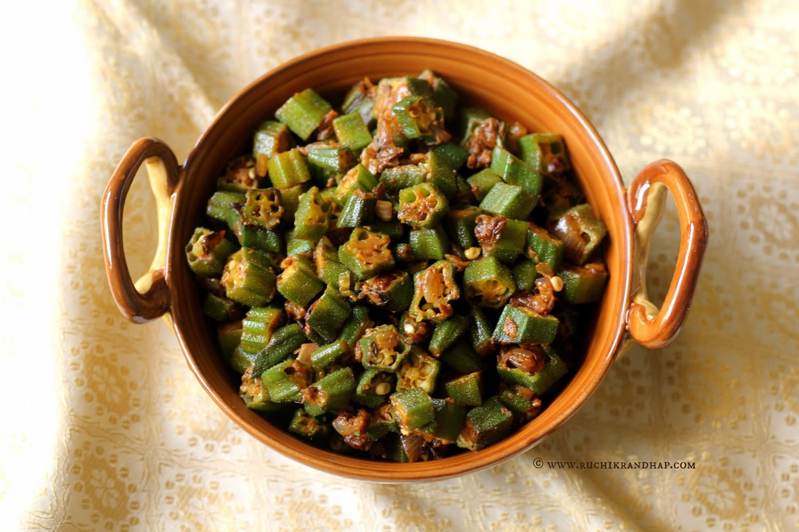 Dry, Spiced Ladyfingers (Okra) Recipes — Dishmaps