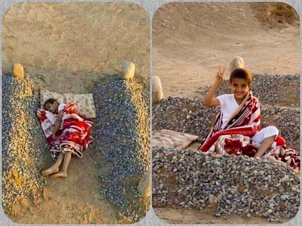 Kisah Sebenar Disebalik Gambar Budak Syria Tidur Disebelah Kubur Ayah dan Ibu