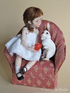 OOAK Bambina con Coniglio