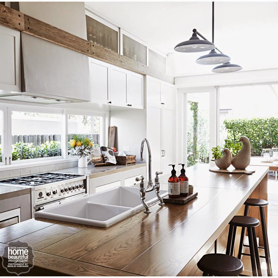 I Am Loving How Bright And Fresh The Rooms Are And How Good Are The Kitchen Islands And Those Lights Home Beautiful