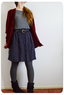 Polka Dot Skirt Refashion