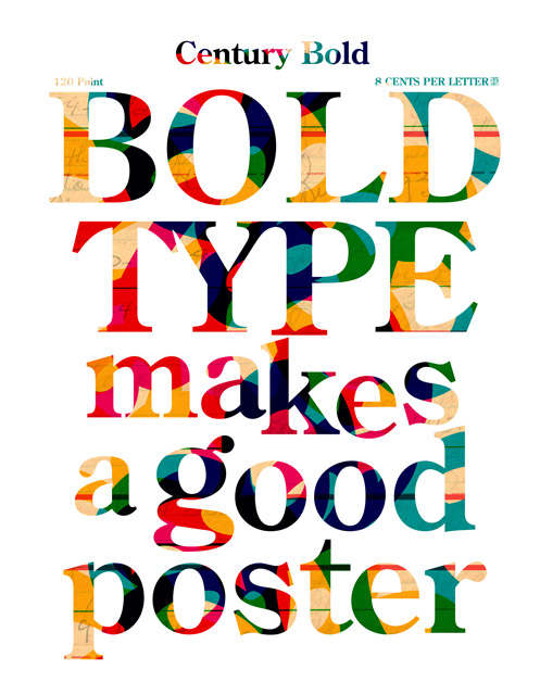 Cover That Mother |: New Print: Bold Type Makes a Good Poster