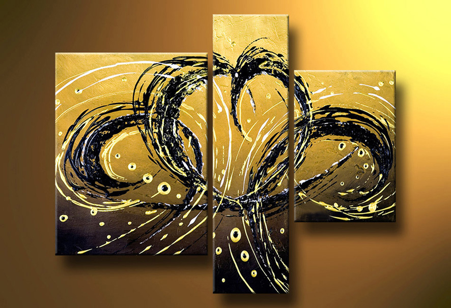 Manualidades paso a paso ideas abstractas - Como pintar un cuadro moderno ...