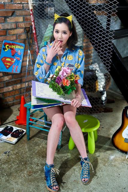 2 Han Ga Eun - very cute asian girl - girlcute4u.blogspot.com