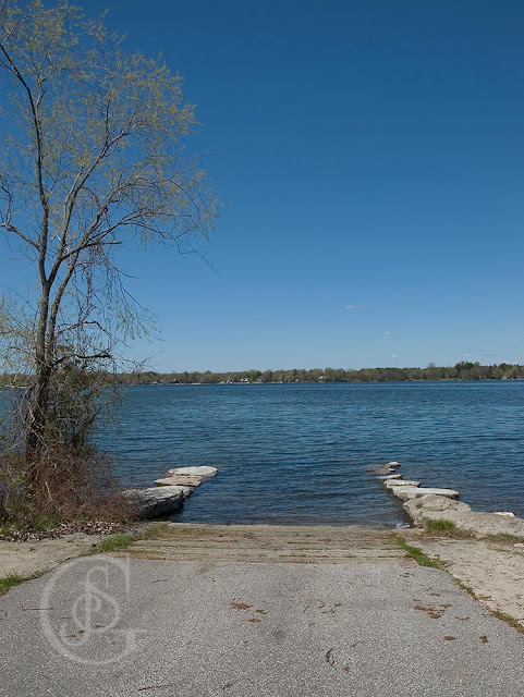 Bass Lake Provincial Park, Orillia - a view of the boat launch area