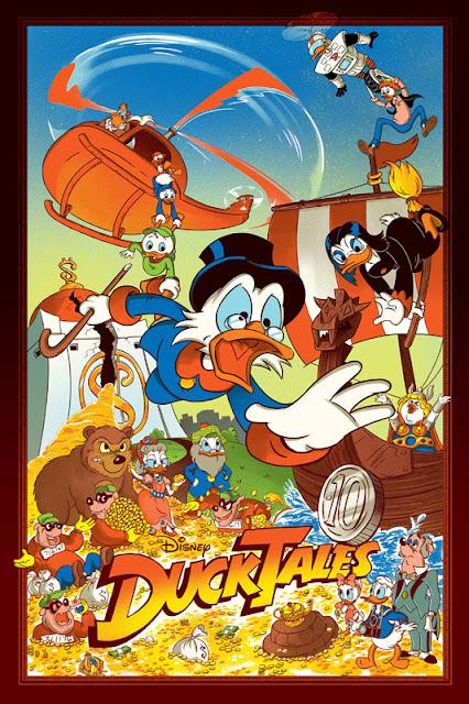 Mondo Ducktales Screen Print Series  - Ducktales by JJ Harrison