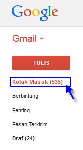 cara membuka pesan email google atau gmail