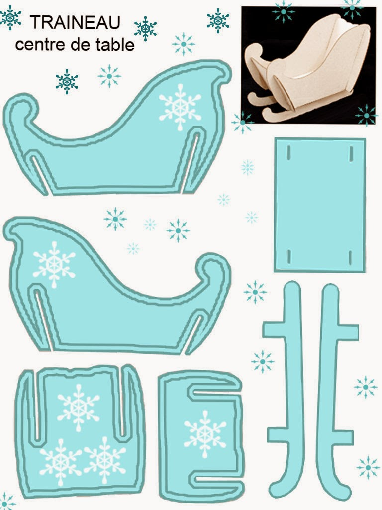 Light Blue Free Printable Sleigh. | Is it for PARTIES? Is it FREE? Is ...