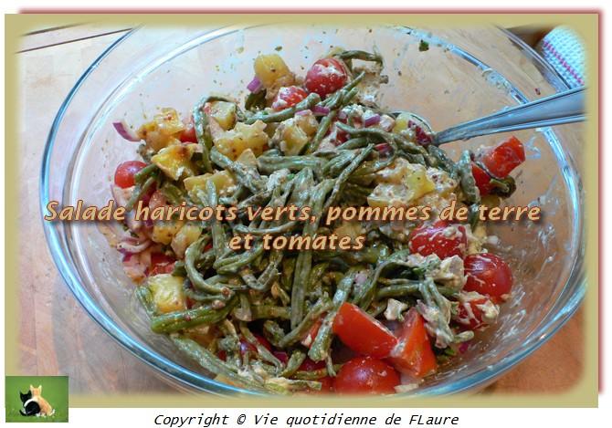 salade haricots verts pommes de terre et tomates blogs de cuisine. Black Bedroom Furniture Sets. Home Design Ideas