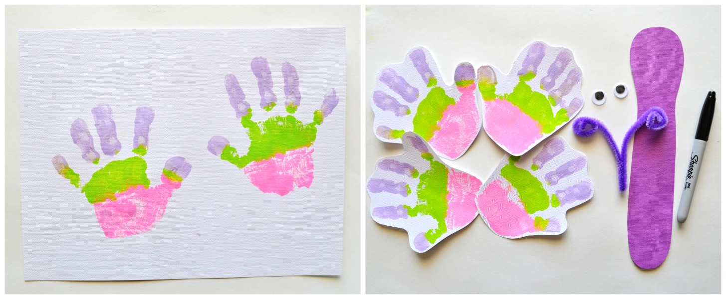 How to Make Handprint Butterflies