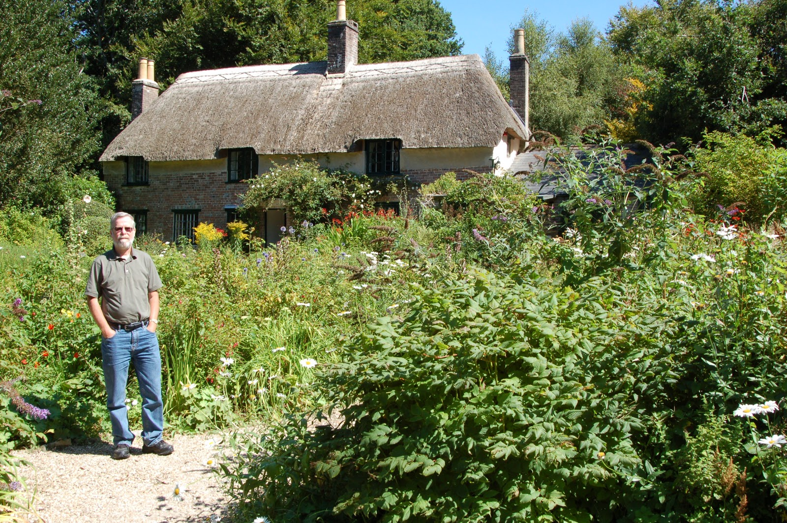 baugh s blog photo essay thomas hardy s cottage in dorset that s me in front of hardy s cottage