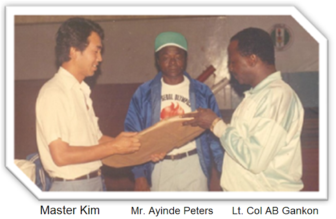 FAREWELL CEREMONY FOR MASTER MOO CHEON KIM MERITORIOUS SERVICE TO NIGERIA 1983 -1989