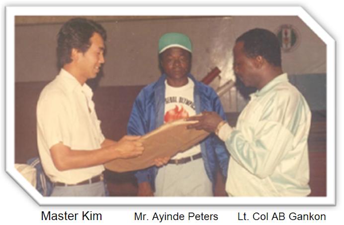 FAREWELL CEREMONY FOR MASTER MOO CHEON KIM MERITORIOUS SERVICE TO NIGERIA 1983 -1989