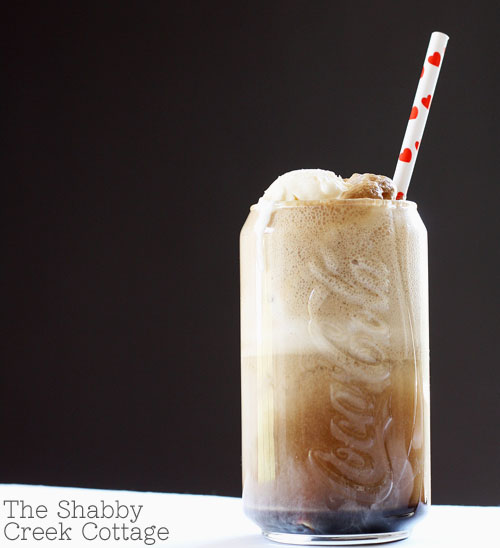 coca cola ice cream float