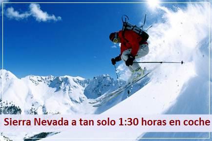 Podrá desplazarse comodamente a la estación de Esquí, Snowboard y Montaña de Sierra Nevada