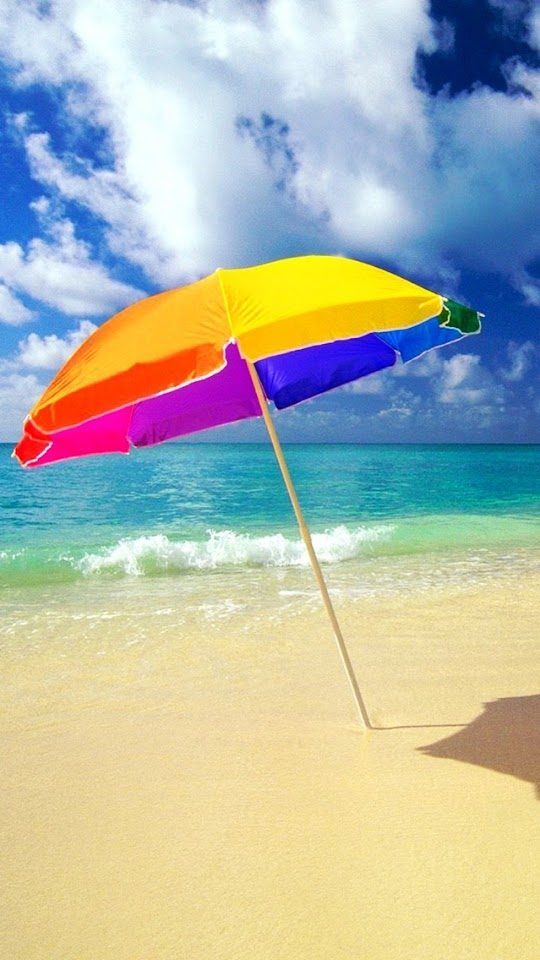 Beach Umbrella On The Beach   Galaxy Note HD Wallpaper