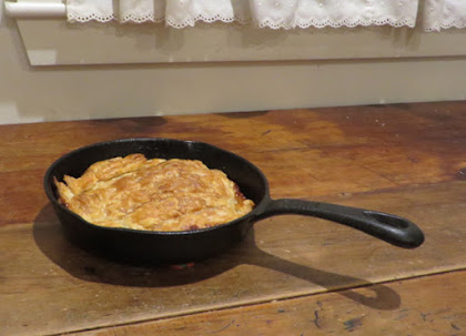 Tarte Tintin, in the cast-iron pan it baked in.