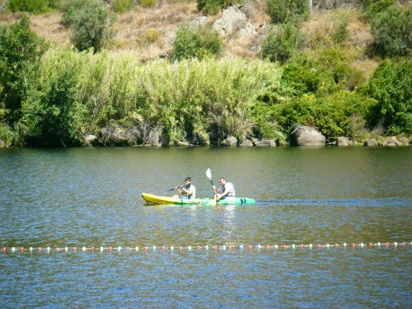 Canoagem no Rio Tejo no Alamal