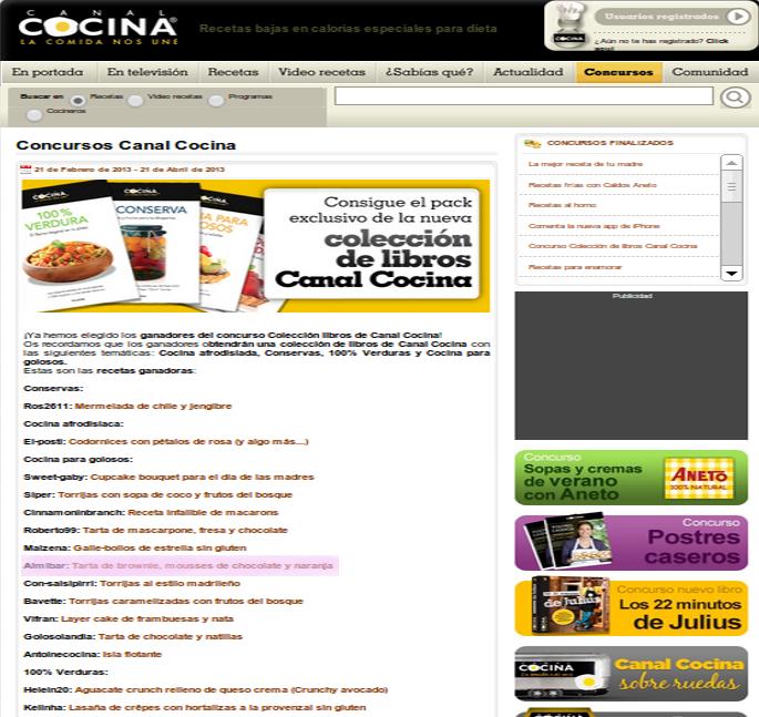 Premio de canal cocina alm bar - Canal de cocina ...