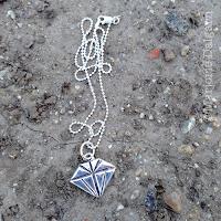 fine silver diamond pendant by Emeline Purcell