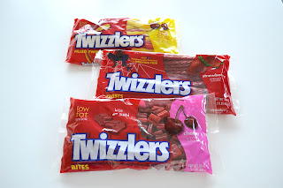 Three packages of Twizzlers products