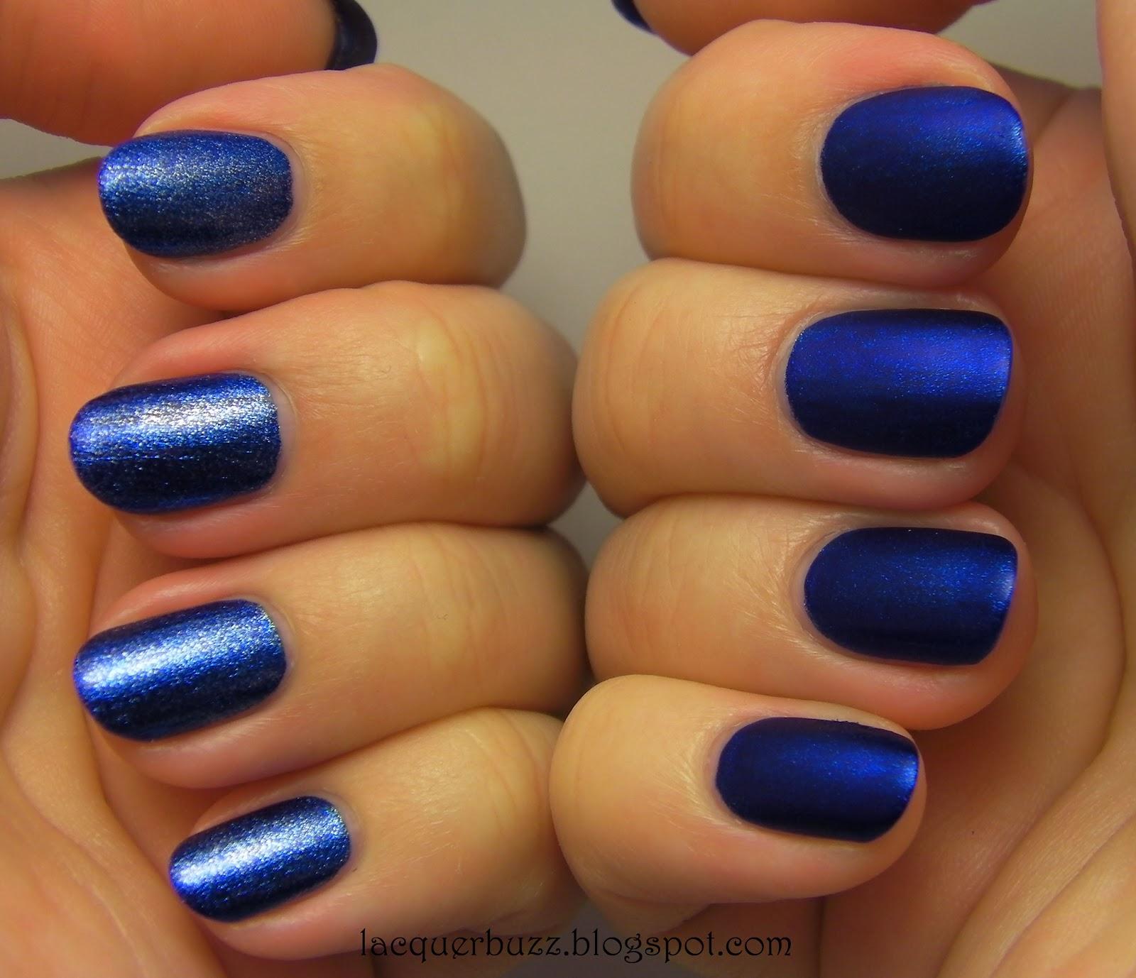 Lacquer Buzz: Monday Blues: Kleancolor Metallic Sapphire
